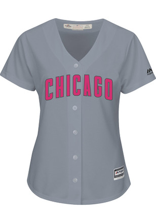 Chicago Cubs Womens Majestic Replica 2017 Mother's Day Jersey
