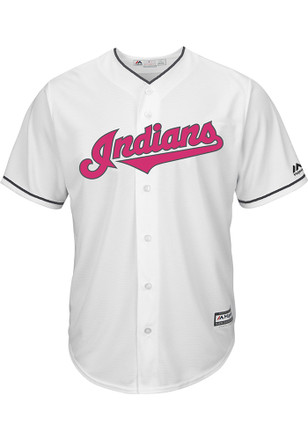 Cleveland Indians Mens Majestic Replica 2017 Mother's Day Jersey