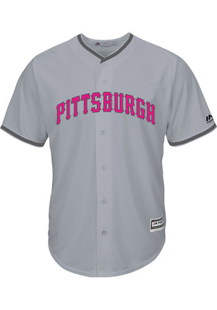 Pittsburgh Pirates Mens Majestic Replica 2017 Mother's Day Jersey