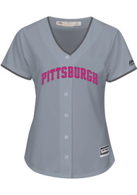 Pittsburgh Pirates Womens Majestic 2017 Mothers Day Replica - Grey