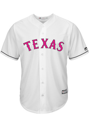 Texas Rangers Mens Majestic Replica 2017 Mother's Day Jersey