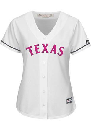 Texas Rangers Womens Majestic Replica 2017 Mother's Day Jersey