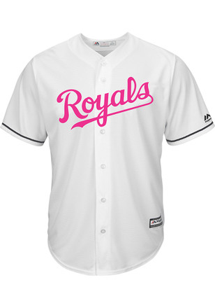 Kansas City Royals Mens Majestic Replica 2017 Mother's Day Jersey