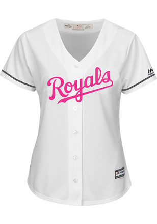 Kansas City Royals Womens Majestic Replica 2017 Mother's Day Jersey