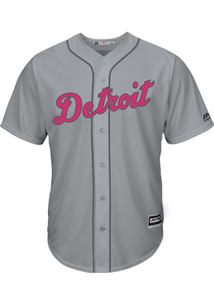 Detroit Tigers Mens Majestic Replica 2017 Mother's Day Jersey