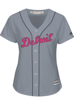 Detroit Tigers Womens Majestic Replica 2017 Mother's Day Jersey