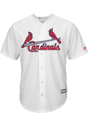 St Louis Cardinals Mens Majestic Replica 2017 Stars and Stripes Jersey