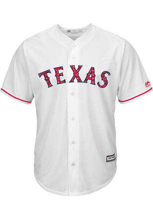 Texas Rangers Mens Majestic Replica 2017 Stars and Stripes Jersey