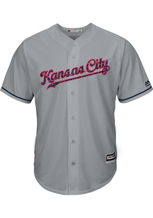 Kansas City Royals Mens Majestic Replica 2017 Stars and Stripes Jersey