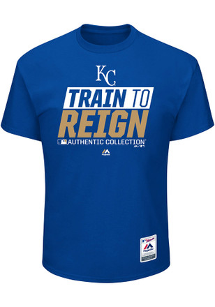 Majestic Kansas City Royals Mens Blue Train to Reign Tee