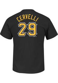 Francisco Cervelli Pittsburgh Pirates Black Name and Number Player Tee
