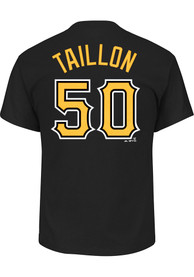 Jameson Taillon Pittsburgh Pirates Black Name and Number Player Tee