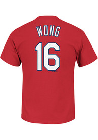 Kolten Wong St Louis Cardinals Red Name and Number Player Tee