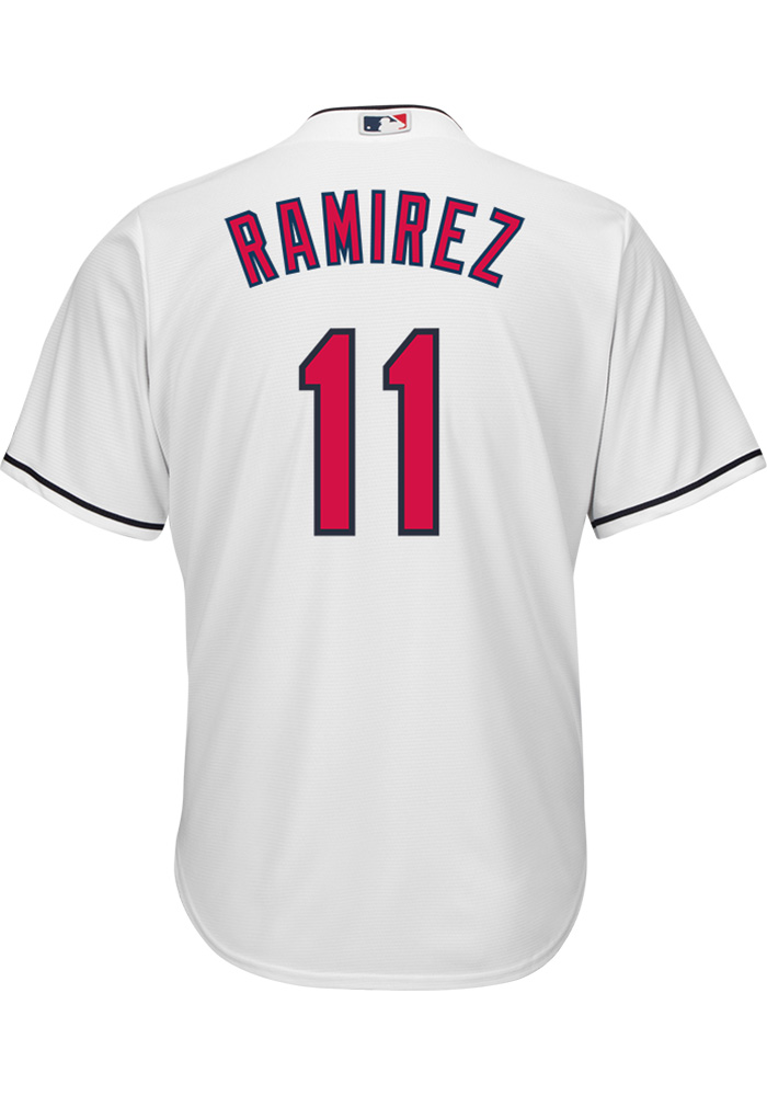 Jose Ramirez Cleveland Indians Mens Replica Home Jersey - White - Image 1 04bdd5eb6