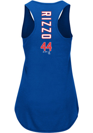 Anthony Rizzo Majestic Chicago Cubs Womens Blue Racerback Player Tee