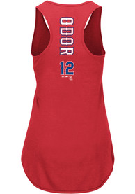 Rougned Odor Texas Rangers Womens Majestic Racerback Player Tank Top - Red