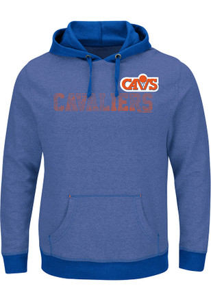 Majestic Cleveland Cavaliers Mens Blue Right Intentions Hoodie