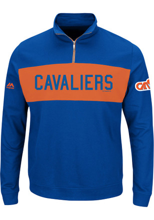 Majestic Cleveland Cavaliers Mens Blue In the Limelight 1/4 Zip Pullover