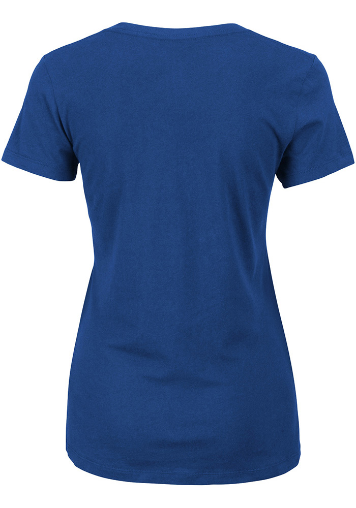 Majestic Dallas Mavericks Womens Blue The Main Thing V-Neck T-Shirt - Image 2