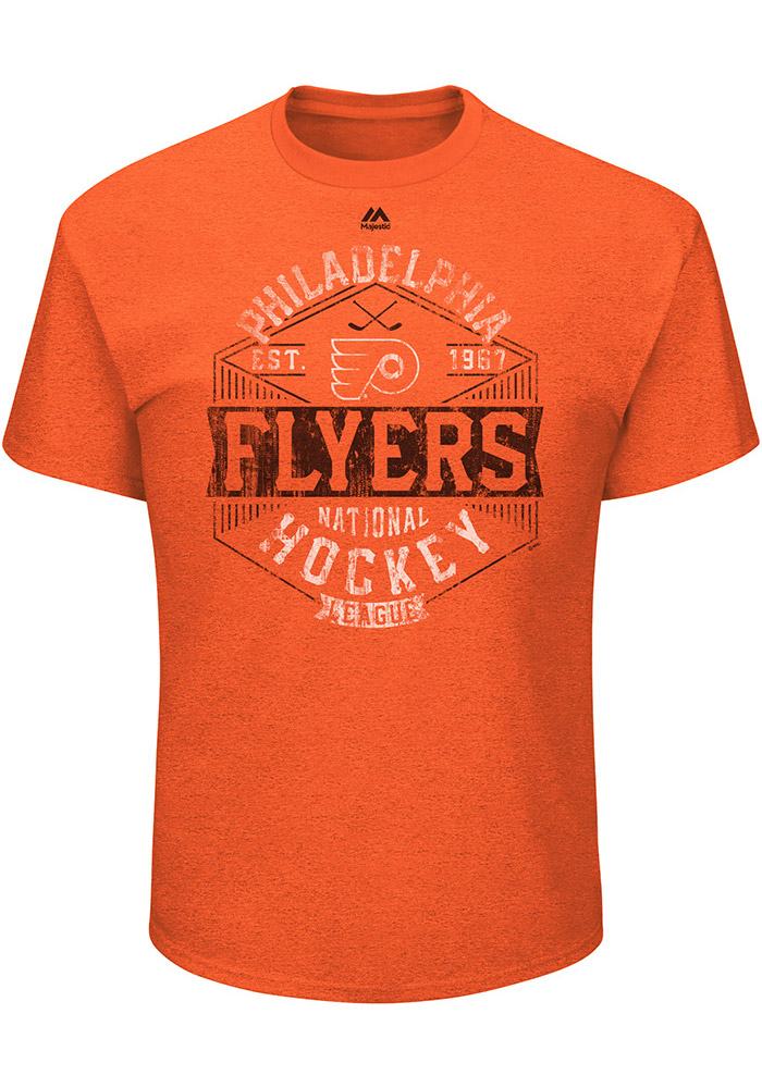 Majestic Philadelphia Mens Orange Expansion Draft Tee
