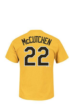 Andrew McCutchen Pittsburgh Pirates Mens Gold Name and Number Player Tee