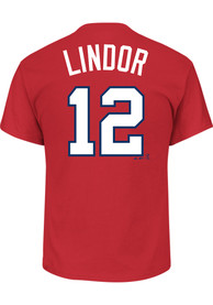 Francisco Lindor Cleveland Indians Red Name and Number Player Tee