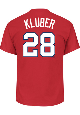 Corey Kluber Cleveland Indians Mens Red Name and Number Player Tee