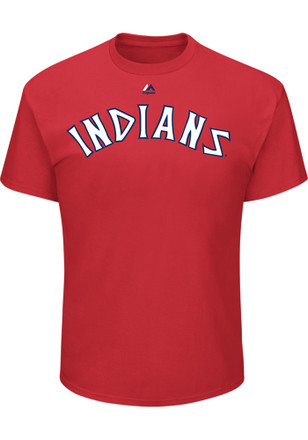 Jose Ramirez Cleveland Indians Mens Red Name and Number Player Tee