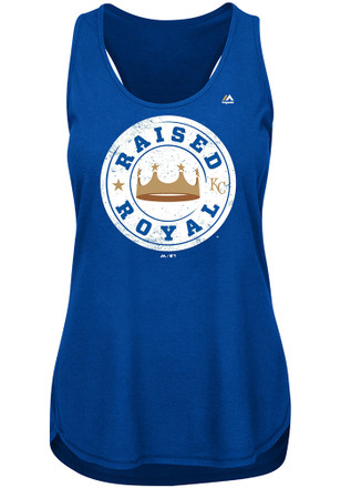 Majestic Kansas City Royals Womens Blue Raised Royal Tank Top