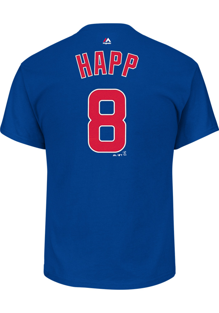 super popular b9d45 bf9f0 Ian Happ Chicago Cubs Blue Name and Number Short Sleeve Player T Shirt