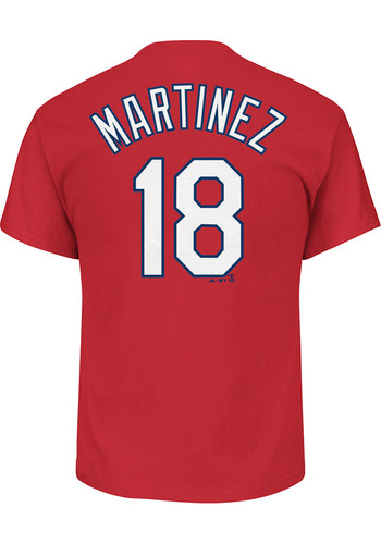 pretty nice 03799 d9a20 Carlos Martinez St Louis Cardinals Red Name and Number Short Sleeve Player  T Shirt - 17254943