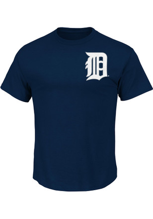 Ian Kinsler Detroit Tigers Mens Navy Blue Name and Number Player Tee
