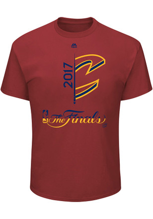 Majestic Cleveland Cavaliers Mens Red 2017 NBA Finals Participant Tee