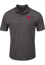 Texas Rangers Majestic Hit First Polo Shirt - Grey