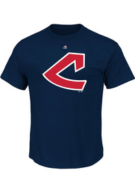 Majestic Cleveland Indians Navy Blue Cooperstown Logo Tee