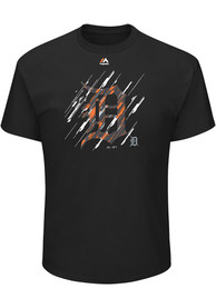 Majestic Detroit Tigers Black Playing The Shift Tee