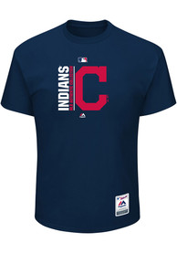 Majestic Cleveland Indians Navy Blue Team Icon Tee
