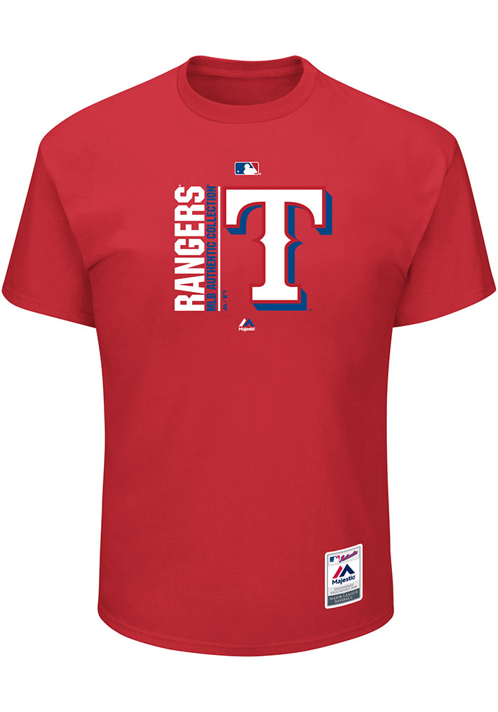 Majestic Texas Rangers Red Team Icon Tee