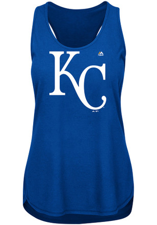 Majestic Kansas City Royals Womens Blue Tested Tank Top