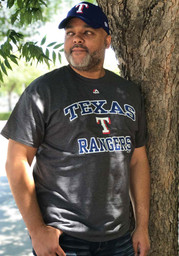 Majestic Texas Rangers Charcoal Heart and Soul Tee