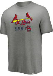 Majestic St Louis Cardinals Grey Open Opportunity Fashion Tee