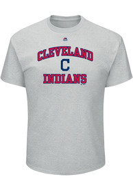 Majestic Cleveland Indians Grey Heart and Soul Tee