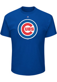 Majestic Chicago Cubs Blue Oversized Cap Logo Tee