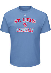 Majestic St Louis Cardinals Light Blue Heart and Soul Tee