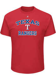 Majestic Texas Rangers Red Heart and Soul Tee