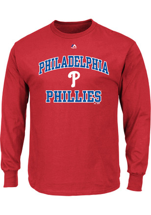 Majestic Philadelphia Phillies Mens Red Heart and Soul Tee
