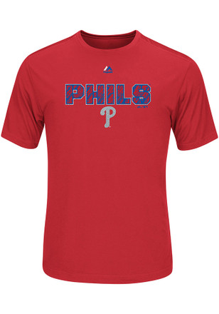 Majestic Philadelphia Phillies Mens Red Our History Tee