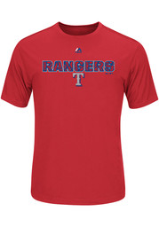 Majestic Texas Rangers Red Our History Tee