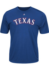Majestic Texas Rangers Blue Official Logo Tee