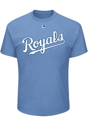 Whit Merrifield Kansas City Royals Mens Light Blue Name and Number Player Tee